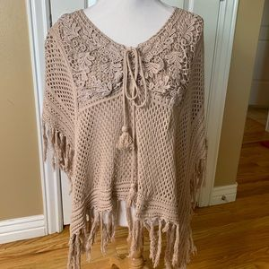 Crochet poncho/top